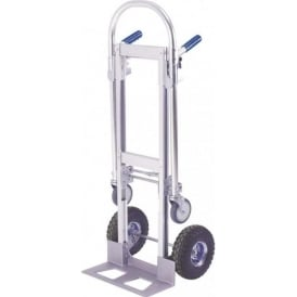 2-in-1 Convertible Sack Truck Cap: 150kg