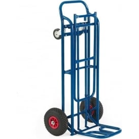 2-in-1 Convertible Sack Truck Cap: 250kg