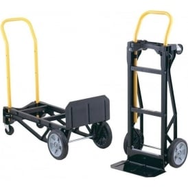 2-in-1 Convertible Sack Trucks with nylon frame Cap: 180kg or 300kg