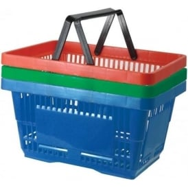 24lt Plastic Shopping Baskets Pk. 5