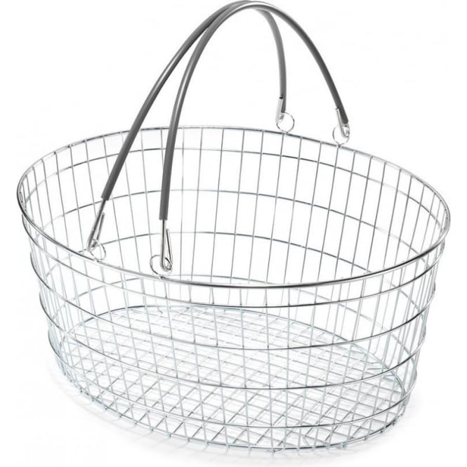 25lt Oval Wire Shopping Baskets Pk 10