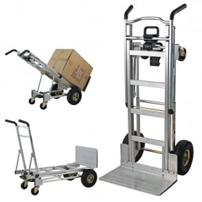 3-in-1 Sack Truck with pneumatic or puncture proof tyres Cap: 300kg