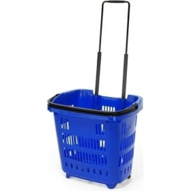 34lt Plastic Shopping Trolley Basket Pk 5