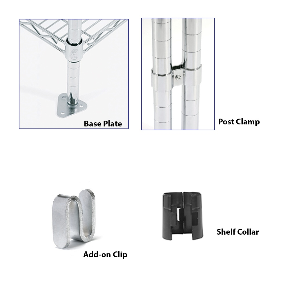 Chrome Wire Shelving Accessories from Parrs - Workplace Equipment