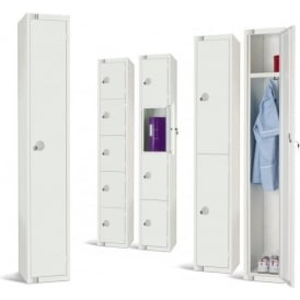 All White Steel Lockers