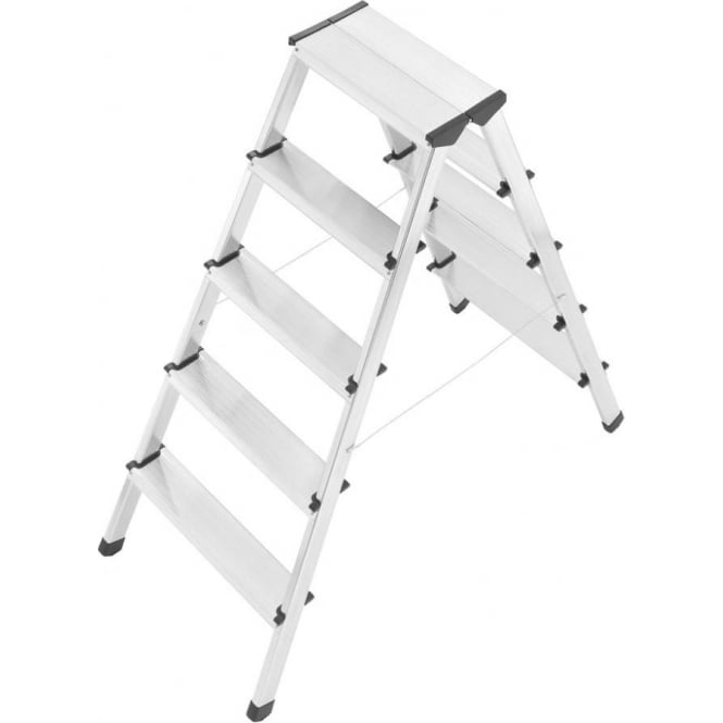 Aluminium Double Sided Folding Step Ladders 5 & 7 Tread