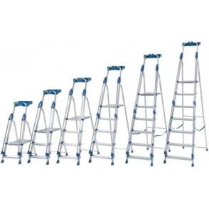 Aluminium Folding Platform Step Ladders