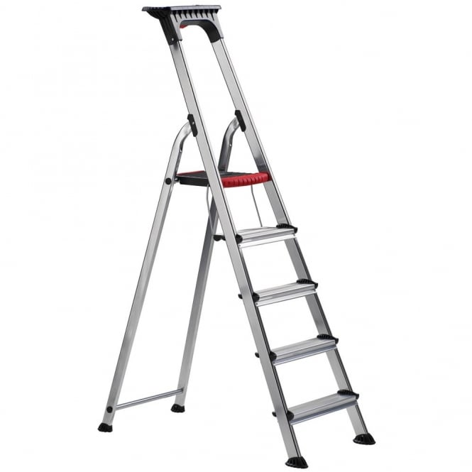 Aluminium Folding Platform Step Ladders with Deep Treads
