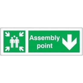 Assembly Point - Arrow Down Signs