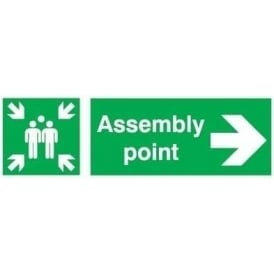 Assembly Point - Arrow Right Signs