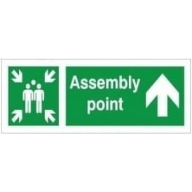 Assembly Point - Arrow Up Signs