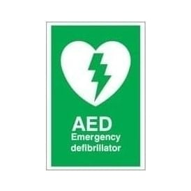 Automated External Defibrillator AED Sign
