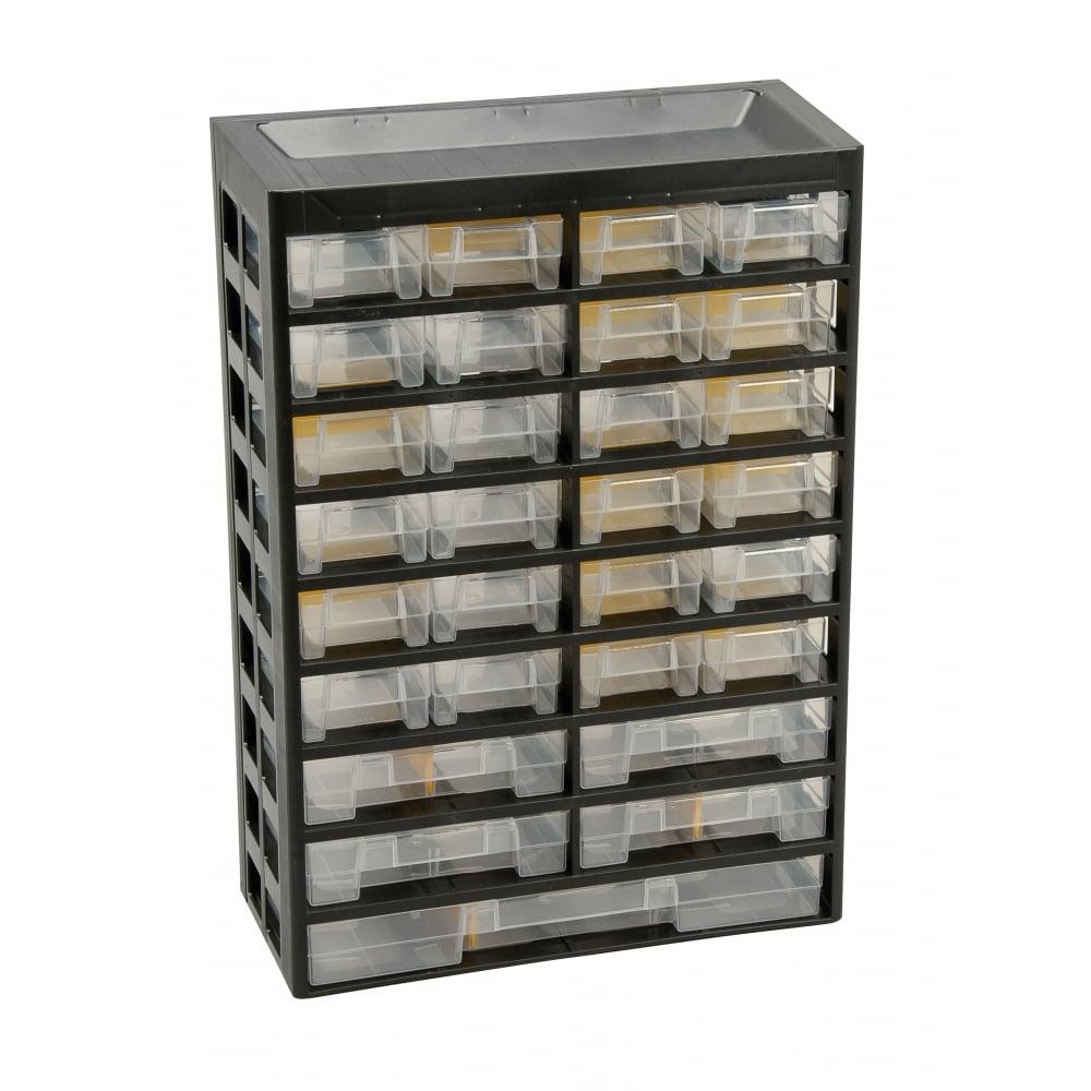 Basic Plastic Visible Multi Drawer Storage Cabinets Pack of 2  sc 1 st  PARRS & PARRS Basic Multi Drawer Storage Cabinets - 9 Shelves x 24 x 4 x 1 ...
