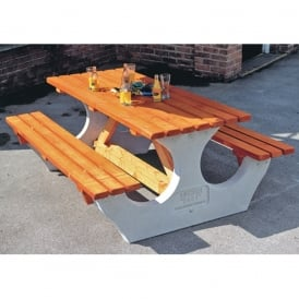 Big Timber/Concrete Picnic Tables - Rectangular