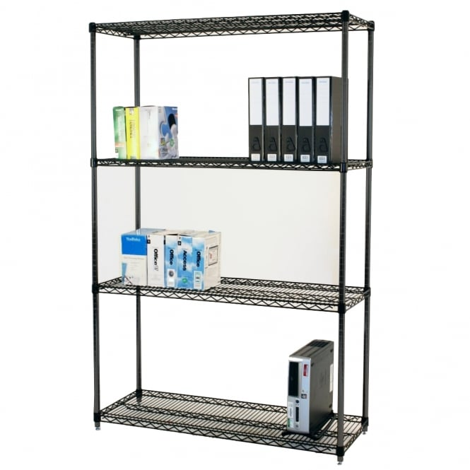 Black Anodised Wire Shelving