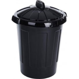 Black Dustbin Cap: 80lt