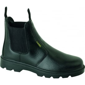 Black Leather Dealer Boots S1P SRC
