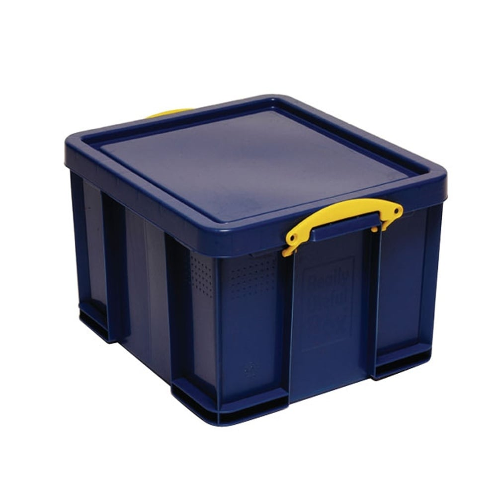 really useful box blue really useful storage box 42lt lockers storage shelving from parrs uk. Black Bedroom Furniture Sets. Home Design Ideas