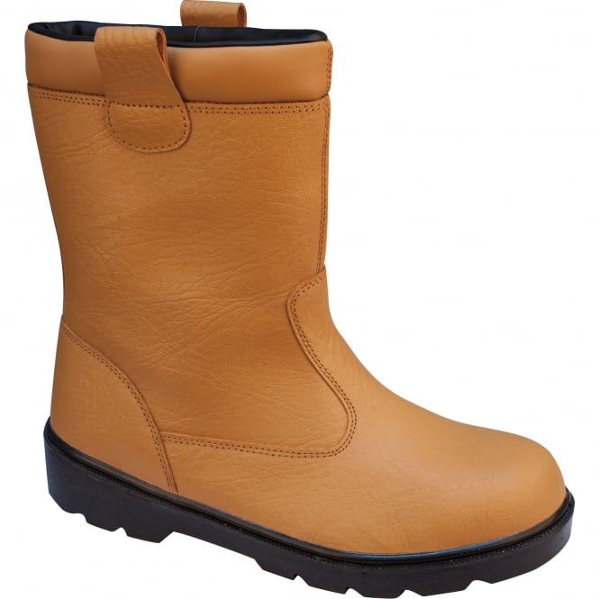 Brown Fur-Lined Rigger Safety Boots S1P
