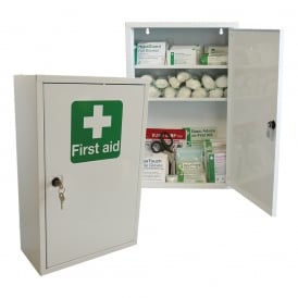 first aid cabinet aid storage parrs workplace equipment experts 15455