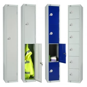Budget Contract Lockers with Cam/Key Lock - 300 x 300mm