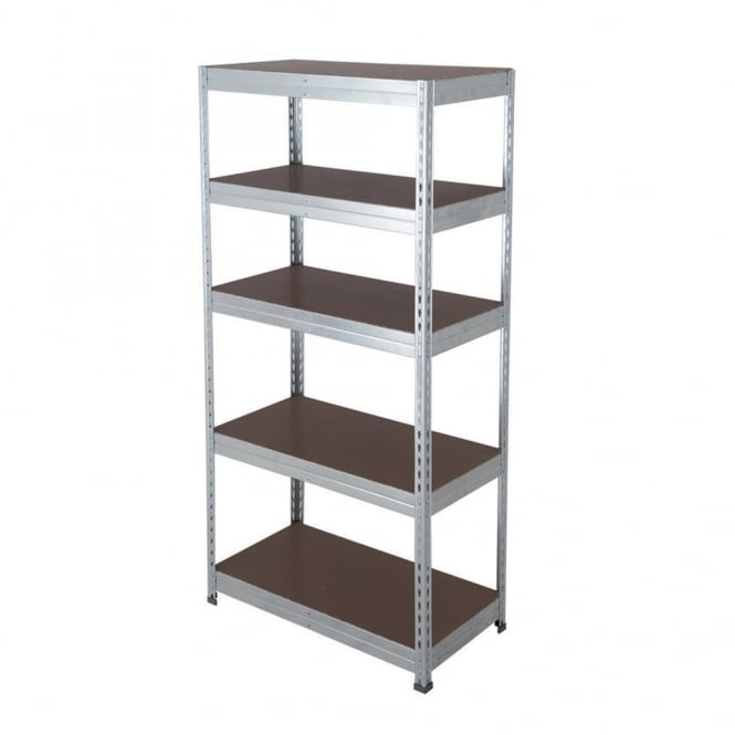 Budget Workplace Galvanised Shelving - Width: 900mm x Height 1700mm