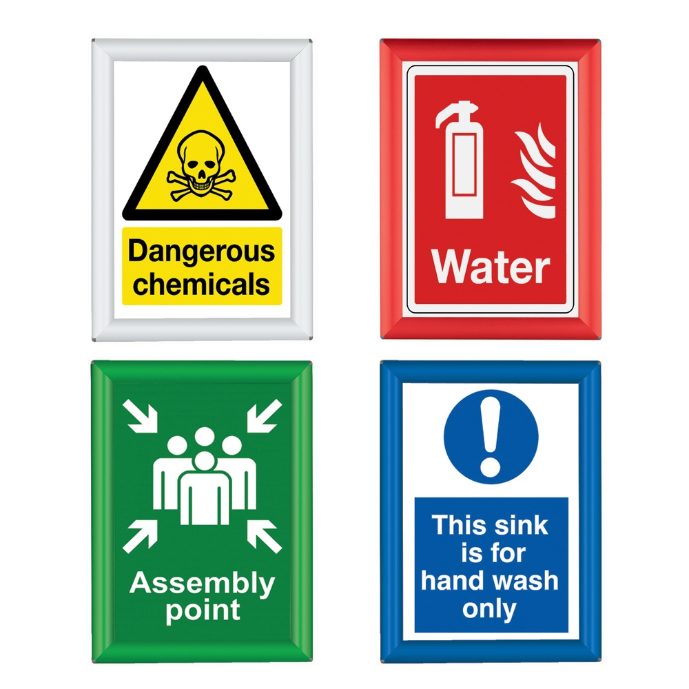 busygrip coloured poster frames from parrs workplace equipment