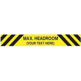 Car Park: Max. Headroom *your text here* Black/Yellow Cheveron Sign