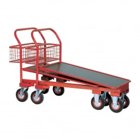 Cash & Carry Nesting Trolley with rear basket Cap: 750kg