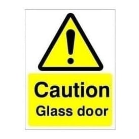 Caution Glass Door Sign