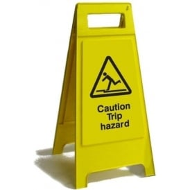 Caution Trip Hazard Free Standing Floor Sign