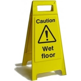 Caution Wet Floor Free Standing Floor Sign