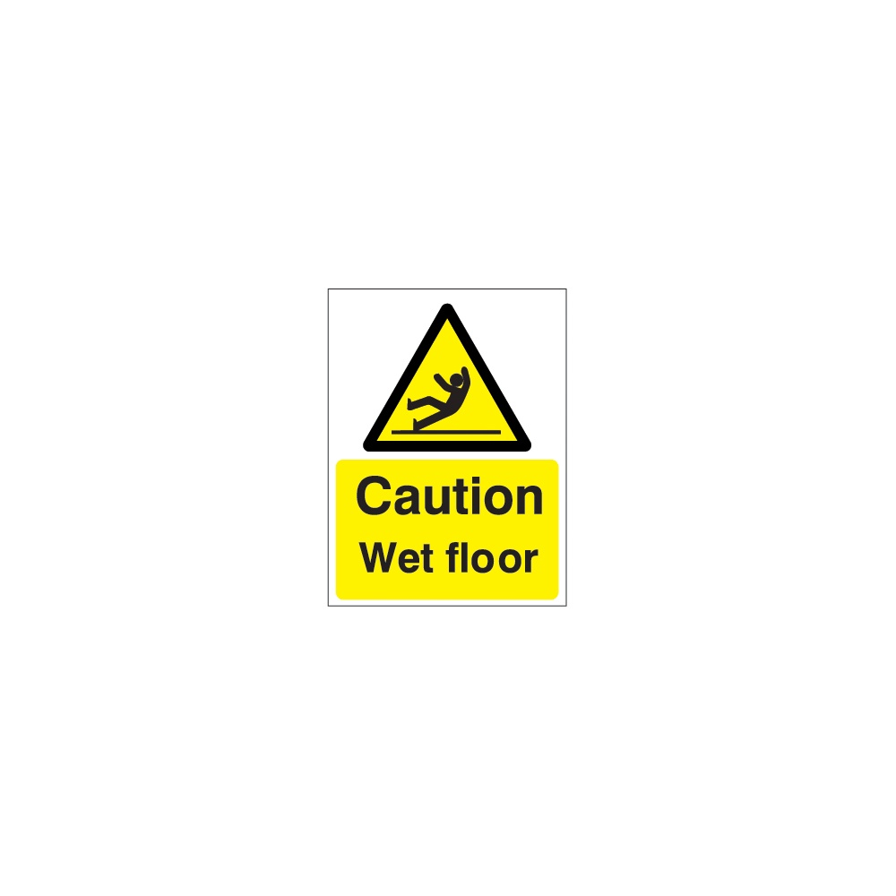 english floor caution stock wet sign or plastic products sticker spanish corrugated
