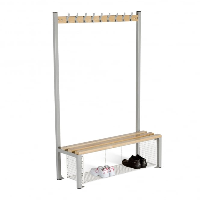 Changing Room Island Seating - Single Sided with Shoe Tray