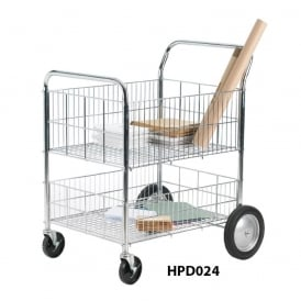 Chrome Wire Distribution Tray Trolleys 120lt