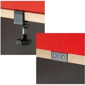 Clamps & Brackets for Desktop Acoustic Screen System