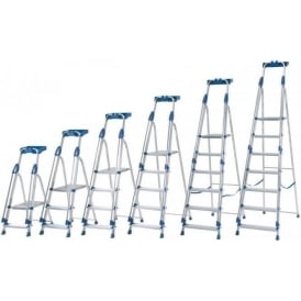 Class 1 Aluminium Folding Platform Step Ladders