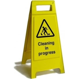 Cleaning in Progress Free Standing Floor Sign