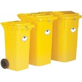 Clinical Waste Wheelie Bins Cap: 120lt, 240lt & 360lt