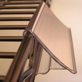 Clip-on Label Holders for Chrome Wire Shelving