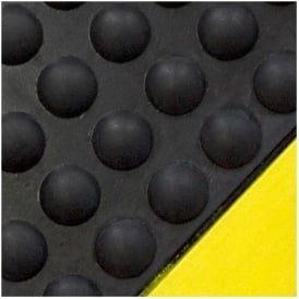Anti Fatigue Bubble Mat with Yellow Safety Edging