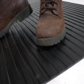 Wide Ribbed Rubber Matting