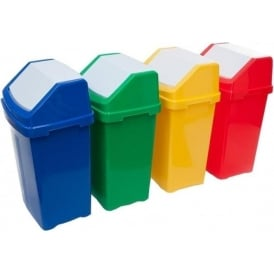 Coloured Flip Top Bin Cap: 50lt