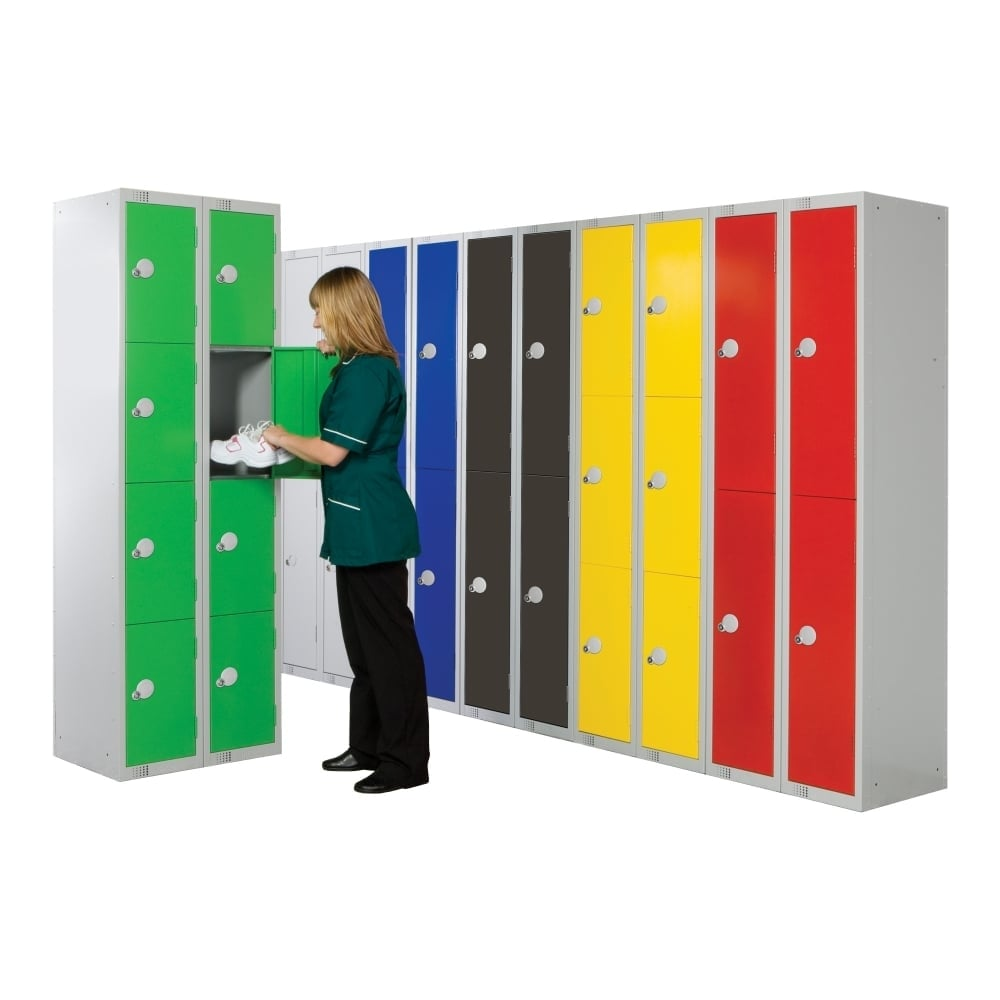 coloured steel lockers 450 x 450mm parrs workplace equipment