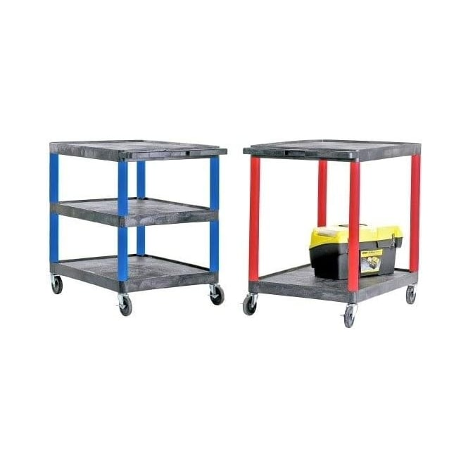 Coloured Plastic Service Trolleys Cap: 150kg