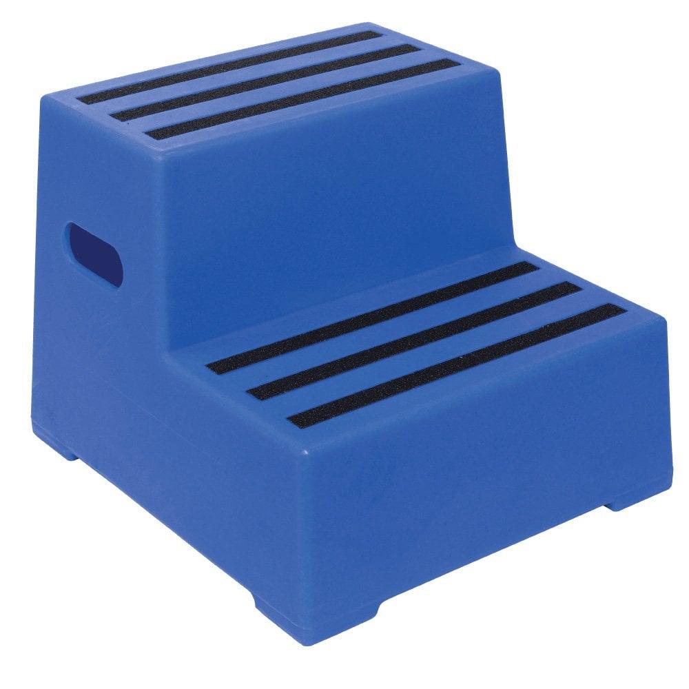 Plastic 2 Step Stool 3 Colour Choices Parrs