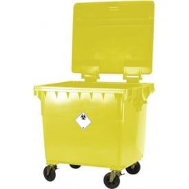 Commercial Wheelie Bin for Clinical Waste Cap: 1100lt
