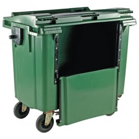Commercial Wheelie Bins with Drop Down Front Cap: 770lt & 1100lt