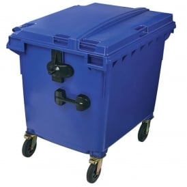 Commercial Wheelie Bins with Flat Lid Cap: 1100lt