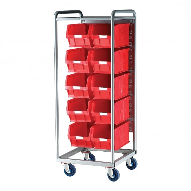 Container Trolley with 10 Topstore Picking Containers